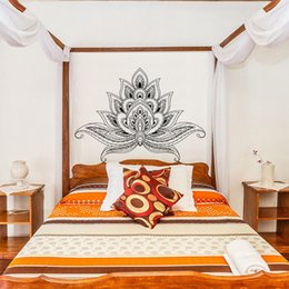 Fesselnd Kreative Lotus Boho Poster Böhmen Indien Böhmen Yaga Wand Mandala  Blumenbeete Headboard Vinyl Aufkleber Wohnzimmer Wohnkultur