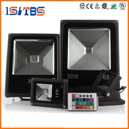 Wholesale Flood Garden - LED Flood Light AC85V-265V LED Flood Light 10W 20W 30W 50W RGB Waterproof IP65 Reflector Led Floodlight Garden Spotlight Outdoor Spot Lamp