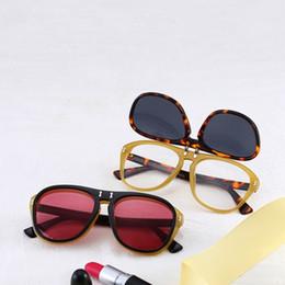 Wholesale layers sunglasses - New Arrival Sunglasses Double Layer Flip Cover Plain Glass Women Spectacles UV400 Protection Men Sun Glasses Hot Sale 14jh B