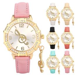 Wholesale girls note - New Cartoon Watch Cute Princess note Crystal Wristwatch Fashion Girls Kids leather Quarts Watches Sports Clock 230277