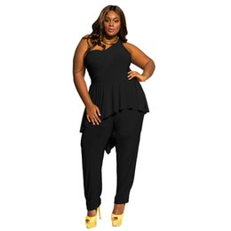 3b1b273d4b8 Plus Size 3XL Jumpsuits For Women 2018 Sleeveless Ruffles Sexy Bodysuit  Black Party Rompers Womens Jumpsuit Summer New Clothing
