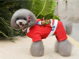 ropa de cachorro hembra Rebajas 2 Estilo del traje del perro 5 tamaño perro de Navidad ropa transformada santa Euramerican perro mascota ropa de Navidad cálido ropa para mascotas decoración