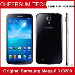 Wholesale 3g Mobile Phone Gps Wifi - Samsung Galaxy Mega 6.3 i9200 Unlocked 2G&3G GSM Mobile Phone Dual Core 6.3'' WIFI GPS 8MP 16GB refurbished cellphone