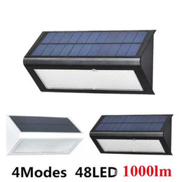Wholesale Waterproof Solar Led - Brightness 4 in1 Solar Powered Light Outdoor Radar Sensor LED Wall Light Garden Lamp ABS+PC Cover 6W 800lm -1000LM Waterproof lights