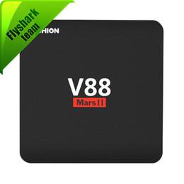 Wholesale Mini 1g - V88 piano Android 7.1 KD 18.0 tv box 1G RAM 8G ROM   2G RAM 16G ROM rockchip 3229 Quad core smart tv pk H96 max S905W mxq pro 4k x96 mini