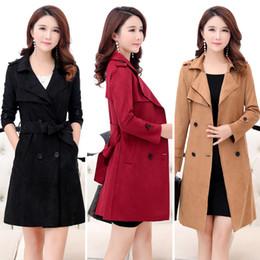 2019 xs mujer abrigo largo coreano 2018 primavera otoño 4XL larga gabardina versión coreana autocultivo de las mujeres cazadora de doble botonadura para mujeres rebajas xs mujer abrigo largo coreano