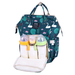 рюкзак для пеленания Скидка Diaper Bag Travel Mummy Backpack Maternity Nappy Changing Bags Large Capacity Waterproof Nursing Bag Wet Swan For Baby Care!