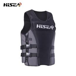 Wholesale Life Vests - HISEA Men's Profession Surfing Motorboat Fishing Life Vest Kids Life Jacket Adult Swim Buoyancy Vest Floating swimwear