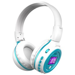 Écran de casque bluetooth en Ligne-Ecouteur Bluetooth Casque stéréo Hi-Fi sans fil pliable avec écran LCD Casque Radio FM Micro Slot pour carte SD