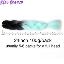 i riccioli allentati neri si intrecciano Sconti Vendita calda Ombre estetiche estetiche dei capelli 100 g / pezzo Ombre intrecciare i capelli di colore due / tre toni sintetici ad alta temperatura capelli fibra