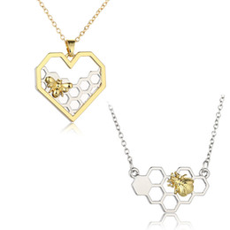 Wholesale bees birthday - New Arrive fashion Bee Chain Jewelry Necklace Pendant For Girl Birthday Gifts Women