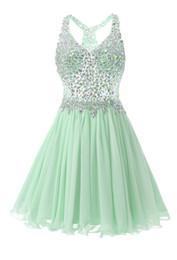 Сексуальные фотографии для девушки онлайн-Мятно-зеленые кристаллы платья возвращения на родину для подростка кристаллы бисером разных цветов милые девушки короткие платья для выпускного вечера реальные фото