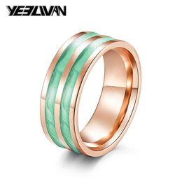 cor rosa shell Desconto Moda Anéis Homossexuais de Alta Qualidade Rosa Cor de Aço Inoxidável Verde Rosa Violeta Shell Silica Gel Anéis para Homens Mulheres Jóias