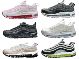 Wholesale flash boots - Classic 97OG Cushion Shock bsorption Flash Light Running Shoes Breathable Triple Mesh Ventilation Striple Reflect Sneakers Sports 97s