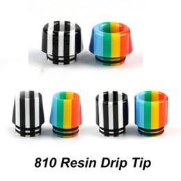 punta de goteo de reemplazo smok tfv8 Rebajas Rainbow Epoxy Resin 810 Thread Resin Drip Tip Boquilla de diámetro ancho Puntas de goteo para TFV8 TFV8 BIG BABY Atomizadores