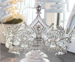 rosa fascinatoren für haare Rabatt 2019 Neueste Top Qualität Brautkronen Bling Bling Kristalle Kopfschmuck Hochzeit Krone Braut Tiara Hochzeit Party Zubehör