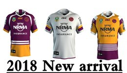 Wholesale Quick Delivery - 2018 BRISBANE BRONCOS heritage Rugby JERSEYS size S--3XL New products are listed, top quality , free delivery.2018 PARRAMATTA EELS