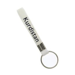 En gros 50 PCS / Lot Encre Rempli Couleur Kurdistan Drapeau Logo Bracelet En Silicone Porte-clés Grand Pour Avantages cadeau ? partir de fabricateur