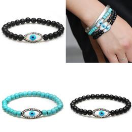 rock-armbänder Rabatt 2019 neue Mode Liebhaber Türkis Auge Armband Lava Rock Armband Armreif Vintage Paare Schmuck Für Geschenk