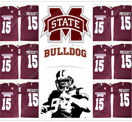 Canada NOUVELLE NCAA Mississippi State Bulldogs Dak Prescott 15 Université SJTSE JERSEY FOOTBALL SPORT HOMME MODE HOT SALE VENTE CADEAU nous sport supplier college sports gifts Offre