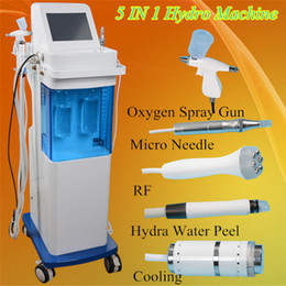 Wholesale Diamond Hydro Microdermabrasion Machine - New 5 in 1 Hydro-dermabrasion Facial Machine Water oxygen jet Peeling Diamond Microdermabrasion Machine Facial Care RF Skin Rejuvenation