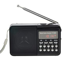 2019 bateria usável recarregável Azexi Rádio FM Speaker Portátil MP3 Player Digital kalonki Apoio TF Cartão USB AUX Bateria Recarregável Embutida desconto bateria usável recarregável
