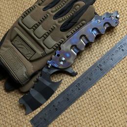 Strumento di asse di sopravvivenza online-Man of war con cuscinetto a sfera tattico coltello pieghevole VG10 lama manico in titanio campeggio caccia sopravvivenza tasca coltelli outdoor gear axe strumenti EDC
