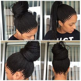 Wholesale Synthetic Lace Front Baby Hair - Lace Box Braids Wig Havana Twist Synthetic lace front wig Black Hair Heat Resistant Braids With Baby Hair Braids Synthetic hair wigs