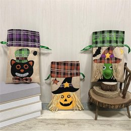 hand bags new types Coupons - New Halloween Kids Candy Bags Large Canvas Children Hand Bags Trick or Treat Witch Pumpkin Storage Bag Halloween Gift Sugar Bags OQ180824