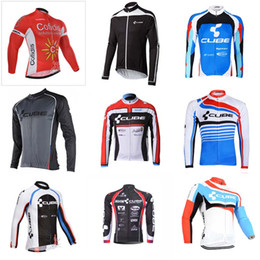 Wholesale Cube Long Sleeve Cycling Top - COFIDIS CUBE team Cycling long Sleeves jersey Bike Clothes Sportswear Racing Bicycle clothes Men\'s Outdoors Clothes 840715