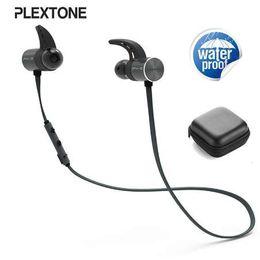 высококачественная bluetooth-гарнитура Скидка Оригинальный Plextone BX343 беспроводная связь Bluetooth наушники IPX5 водонепроницаемый портативный HIFI бас стерео высокого класса спорт с микрофоном гарнитура