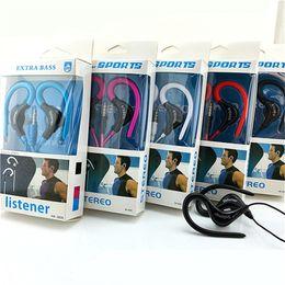 2019 crochet de micro 3.5mm écouteurs écouteurs universels écouteurs avec mic sport oreille crochet Musique Stéréo casque pour samsung xiaomi sony téléphones mobiles crochet de micro pas cher