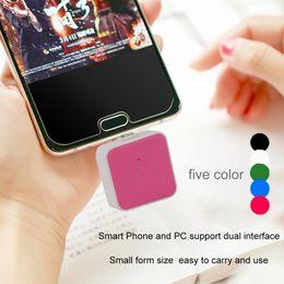 2019 universal adapter china 2 em 1 tamanho portátil leitor de cartão otg universal micro usb cartão de memória digital seguro / tf leitor de cartão otg adaptador atacado quente