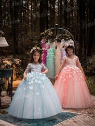 Azul crianças roupas de natal floral melancia abendkleider vestido de baile vestidos de casamento da menina de flor até o chão meninas pageant vestidos de Fornecedores de vestido de melancia, vestidos, meninas
