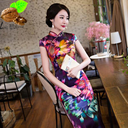 afac1c5e004bd Chinois Style Soie Vintage Qipao Femmes Velour Cheongsam Chinois Oriental  Longue Rétro Qipao Traditionnel Velours National Vent Dress robes de style  ...