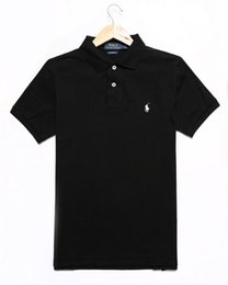 cotton new york Promo Codes - Brand Designer Polo Men Women Short Sleeve Shirts London New York Chicago Polo Shirt Mens Polo Shirt High Quality Solid Color