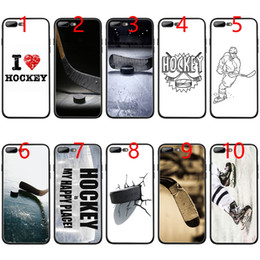 Caso do iphone do hóquei on-line-Hóquei macio preto tpu phone case para iphone xs max xr 6 6 s 7 8 plus 5 5S se cobrir