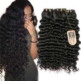 I capelli cinesi vendono online-i capelli umani mongoli vergini 100% più venduti, distributore all'ingrosso di prodotti cinesi I pacchetti di tessuto riccio profondo possono scegliere 3 o 4 panieri