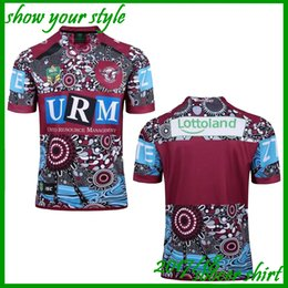 Wholesale Iron Eagles - 2018 New Zealand rugby Jersey Newcastle Knights Iron Patriot Brisbane MANLY SEA EAGLES 17 18 Rugby jersey Sea Hawk football