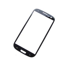 Замена переднего стекла галактики s3 онлайн-Высокое качество замена ЖК-экран стекло внешний объектив без касания для Galaxy S3 i9300 Бесплатная доставка