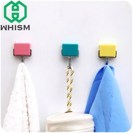 Wholesale Powerful Hook - WHISM Super Magic Magnetic Hook Kitchen Fridge Microwave-Absorbing Strong Powerful Magnet Hanging Hooks for Keys Bag Towel