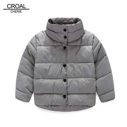 Wholesale warm baby snowsuit - 100-140cm Red Blue Cotton Children's Winter Jackets Baby Girl Coat Wnter Newborn Boy Snowsuit Warm Unisex Kids Clothing