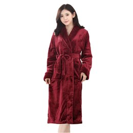 Wholesale Paisley Robe - Autumn and winter flannel cute long sleeved cartoon couples pajamas