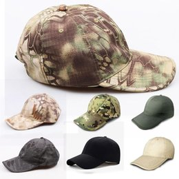 Wholesale woodlands camo - Python Camouflage Hat Simplicity Outdoor Hat Woodland Camo Tactical Cap For Hunting Army Hat 7 Styles Support FBA Drop Shipping G700F