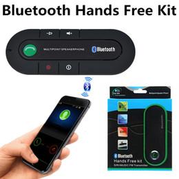 Bluetooth V4.1 Manos libres Kit de coche Altavoz Reproductor de música Kit de coche Manos libres inalámbrico Altavoces para teléfono inteligente con caja al por menor desde fabricantes