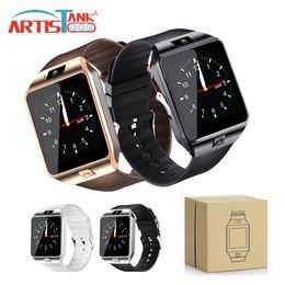 Смотреть сотовый телефон tf-карту онлайн-SmartWatch DZ09 Bluetooth Smart Watch с гнездом для SIM-карты и TF-карты для Apple Samsung IOS Android Сотовый телефон 1,56-дюймовый умные часы
