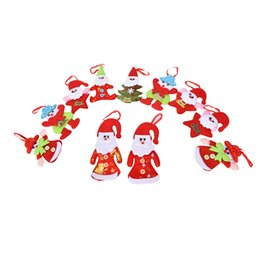 Wholesale Wholesale Snowing Xmas Tree - Santa Claus Snow Man Reindeer Doll Christmas Decoration Xmas Tree Hanging Ornaments Pendant Best New Year Gift 1PC