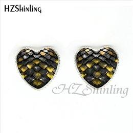Nova moda dragão vermelho ovo brincos de coração de vidro de Game of Thrones coração jóias de prata em forma de coração brinco de