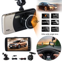 Передний автомобильный видеорегистратор онлайн-HOT Dual Lens Night vision FHD 1080P Full HD Dash Cam Car DVR Recorder Front Rear view Camera CY916-CN