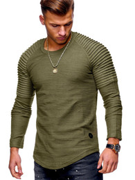 35f8b32815551 Mens T Shirt White Black Long Sleeve O Neck Hip Hop Summer Men Fashion High  Street Slim Fit T Shirts Tops tee M-3XL